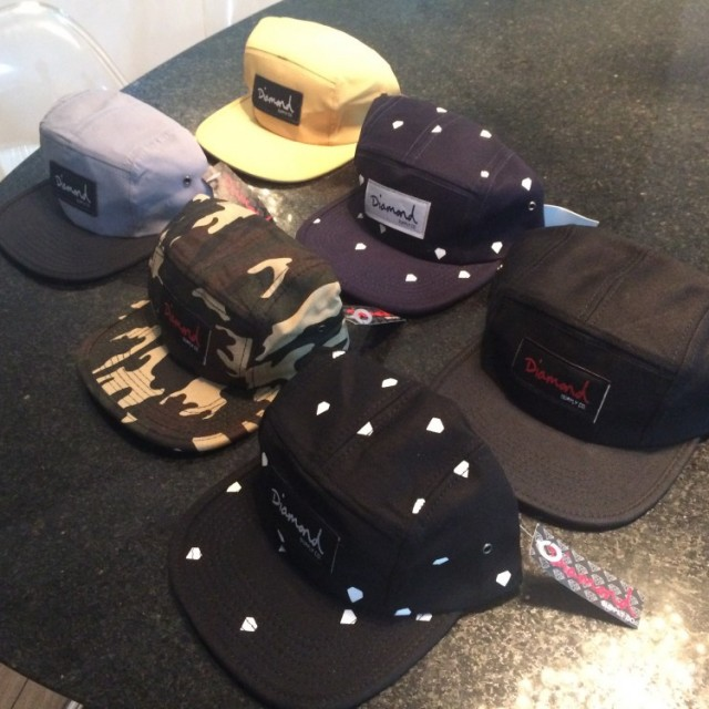 Boné 5Panel Diamond Co Supply Replica 6 modelos