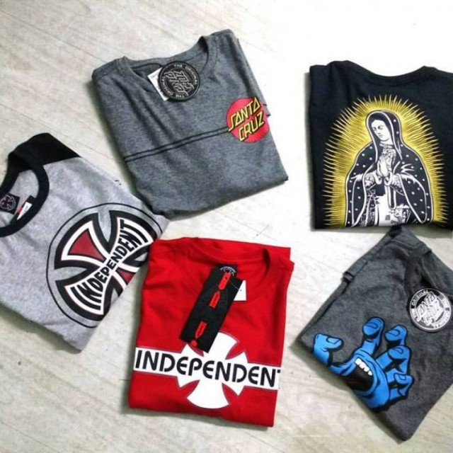 CAMISETAS INDEPENDENT, SANTA CRUZ, SPITFIRE