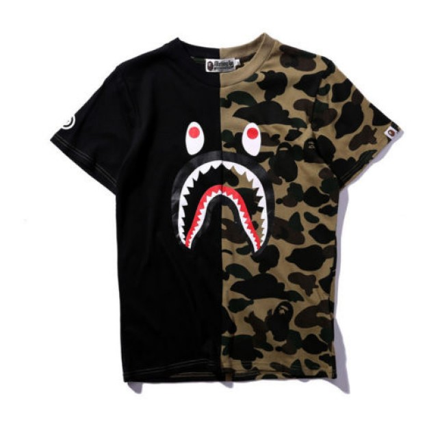 CAMISA A BATHING APE, BAPE SHARK T SHIRT MEN IMPORTADA